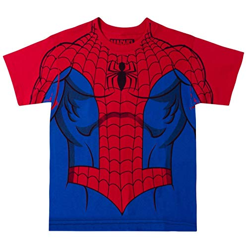 Camiseta juvenil do Incrível Homem-Aranha da Marvel Comics, Vermelho, Medium (9-10)