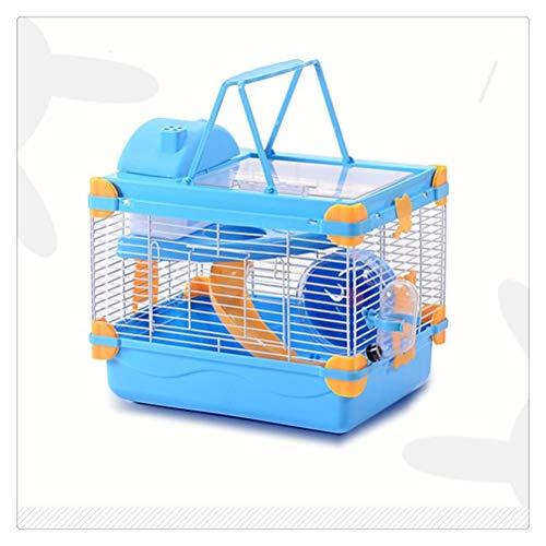 Aiglen Jaula para mascotas con tragaluz transparente de doble capa Dreamy para jaulas y hábitats de hámsters para mascotas Jaula para hábitats de animales pequeños para interiores con un gran espacio