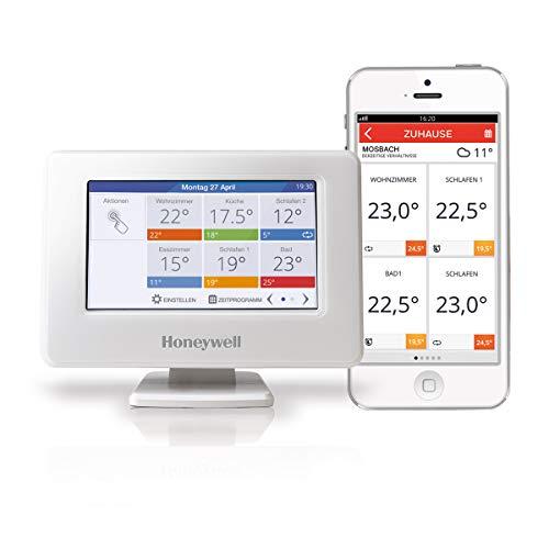 Honeywell Home evohome Wi-Fi Zentrales Bediengerät, weiß, THR99C3100