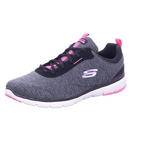 Skechers Flex Appeal 3.0 - Zapatillas deportivas para mujer, color negro, negro (Negro), 36 EU