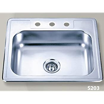 33 Inch Stainless Steel Top Mount Single Bowl Kitchen Sink And Eclipse Design Faucet Combo Amazon Com
