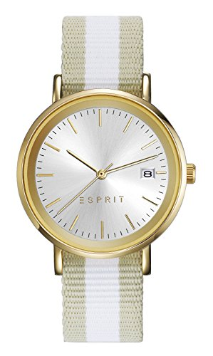 Esprit Damen Analog Quarz Uhr mit Nylon Armband ES108362002