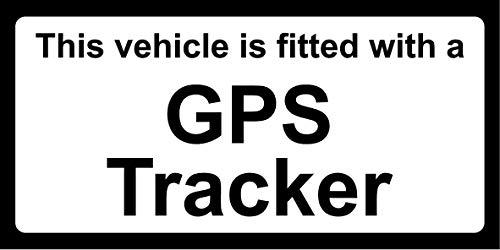 Dit voertuig is uitgerust met een GPS tracker auto veiligheid teken - Zelfklevende sticker 150mm x 100mm