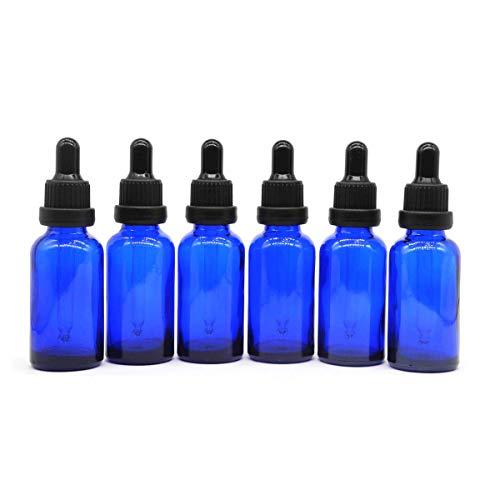 Yizhao Azul Frasco Cuentagotas Cristal 30ml, Botellas Cuentagotas con [Pipeta Cuentagotas Cristal],...