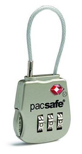 Pacsafe Prosafe Lucchetto per valigie, 8 cm, Argento (Silver)