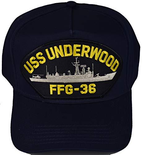 EC USS Underwood FFG-36 Ship HAT - Navy Blue - Veteran Owned Business