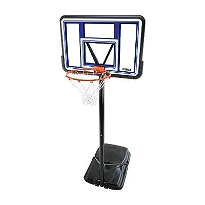 Lifetime 90073 Pro Court Height Adjustable Portable Basketball System, 44 Inch Backboard