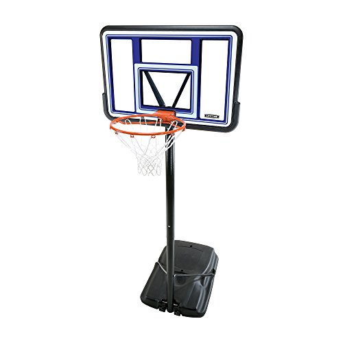 Lifetime 90073 Pro Court Height Adjustable Portable Basketball System, 44 Inch Backboard