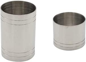 SGerste Thimble Wine Measures 25ml 50ml Bar Jigger Spirit Shot Measure Stainless, Silver, Set of 2
