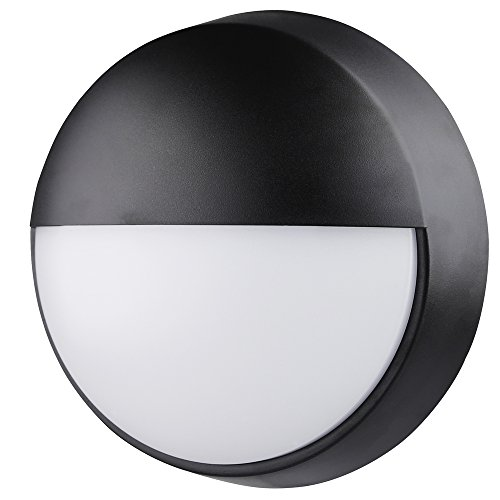 Lyo wandlamp, rond, halve maan, met sensor, 14 W, zwart, 21,5 x 8 cm