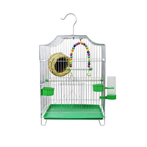 DAGCOT Bird Cage La Jaula de pájaros económica de artículos for el hogar Tiene Dos tazones y una Fuente for Beber Mejor