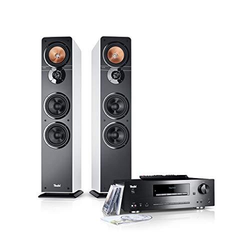 Teufel Ultima 40 Kombo Weiß Stereo Lautsprecher Musik Sound Hochtöner Mitteltöner Bass Speaker High End HiFi Tieftöner Schalldruck Soundanlage