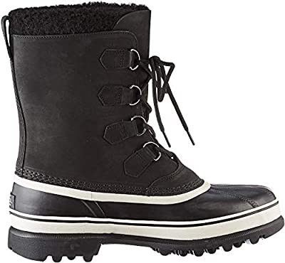 SOREL - Men's Caribou Waterproof Boot for Winter, Black, Dark Stone, 8.5 M US