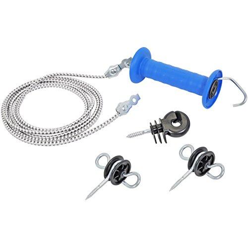 VOSS.farming Set mit Griff für Tore, mit elastischem Seil, 3,20 m/6,2 m – nützliches Zubehör für Elektrozäune