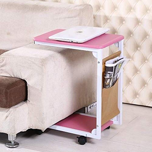 Home Beistelltische Nordic Massivholz Kreative Nachttisch Möbel Japanischen Stil Einfachen Holztisch Kleinen Teetisch Computer Ecktisch, BOSS LV, Rosa
