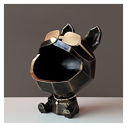 Organizador de la bandeja de la bandeja, caja de almacenamiento de la llave del perro de la boca grande, bandejas decorativas for la mesa de centro, bandeja de la bandeja de la joyería de la bandeja d
