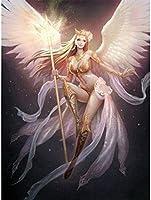 DGSJH ダイヤモンド絵画エルフステッカー漫画の女の子の風景フルラウンドドリルモザイクアートワーク5Dダイヤモンド刺繡天使工芸品40X50Cm