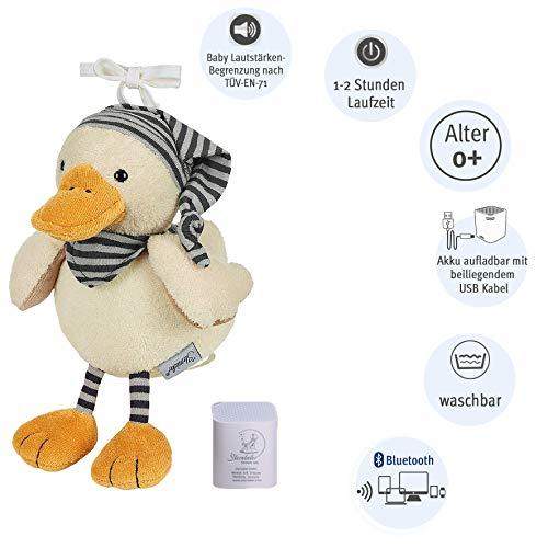 Sterntaler 6351824 Chilling Box Edda (DE 34407560), Digitale Spieluhr, Inkl. Bluetooth-Lautsprecher und USB-Kabel, Alter: Babys ab der Geburt, 20x16x10 cm, Weiß