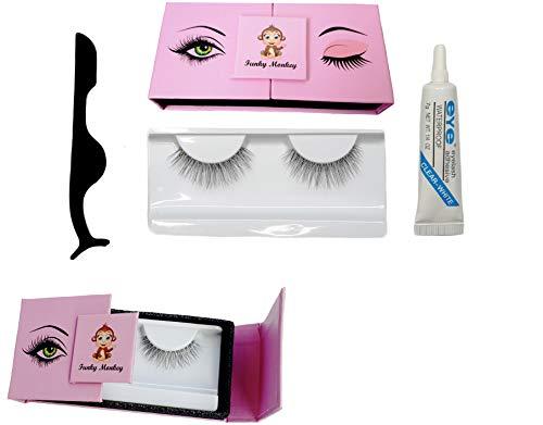 Ciglia Finte Non Magnetiche Calamite Magneti Naturali Magnetic Eyelashes Lashes Colla Estensione Beauty Box Eyelash Glue False Lash Riutilizzabile 3D Naturale Kit Extension Set Con Applicatore
