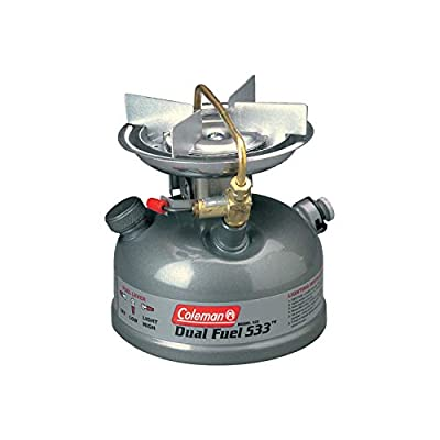 Coleman Camping Stove | Sportster II Dual Fuel Backpacking Stove, 1-Burner, Green