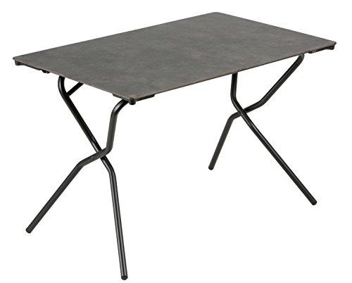 Lafuma Rechteckiger Gartentisch, für 4 Personen, Klappbar, Wetterfest, vulkan (meliert), 110 x 68 cm