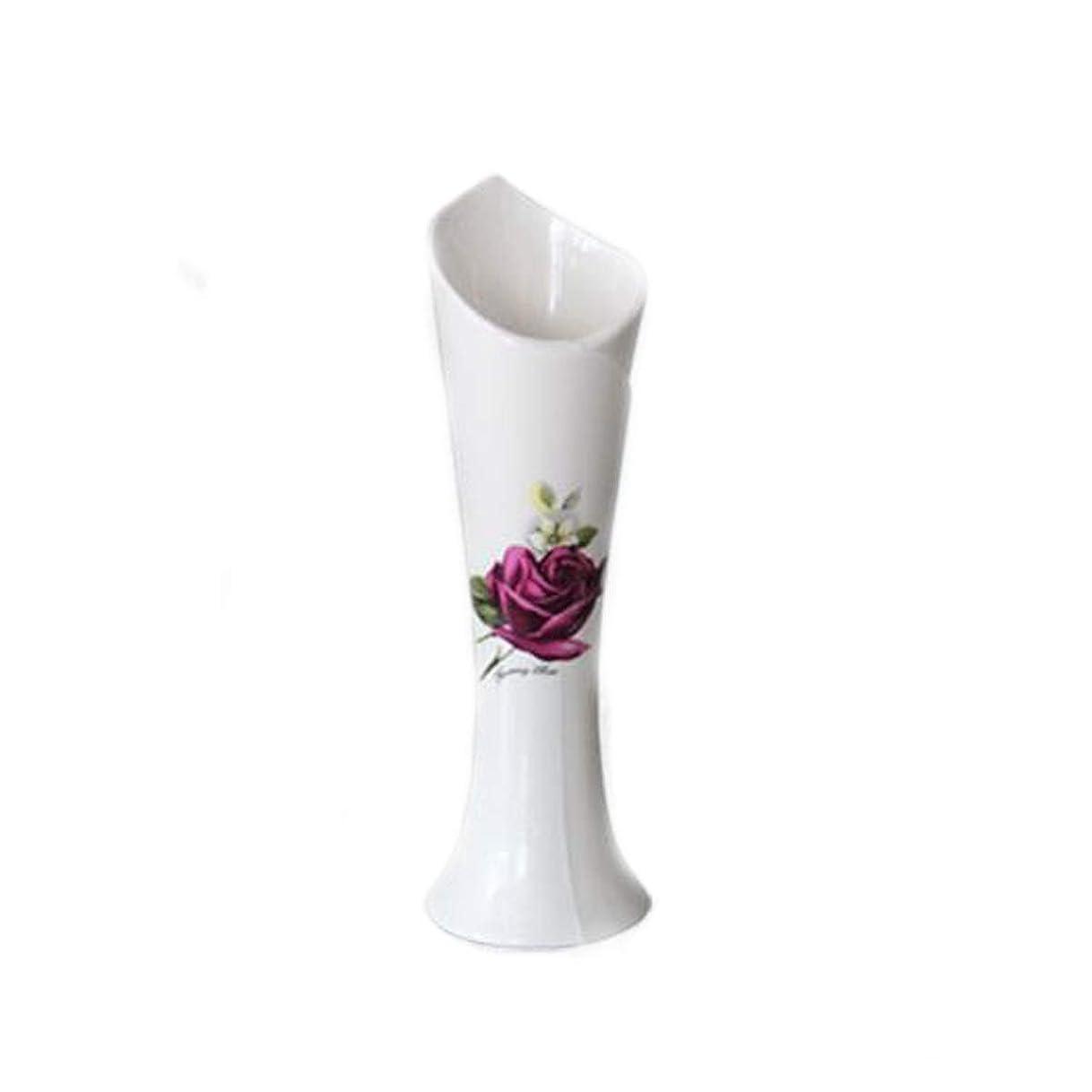 逮捕麺順番SLY 花瓶、セラミック花瓶、現代のミニマリストの装飾 (Color : White)