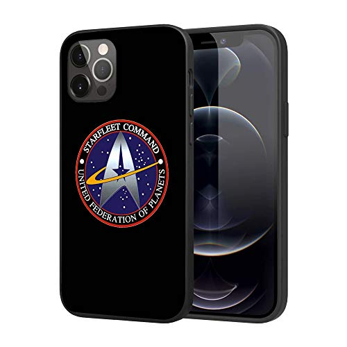 Silicone Case Compatible with iPhone 12 Pro Max, Full Body Protection Cover Case (Star-Trek)