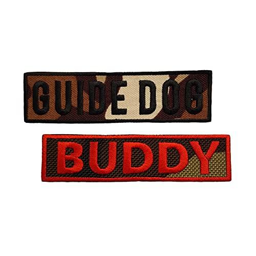 Emporium Embroidery Par de parches bordados personalizados para arneses K9 Chalecos y collares etiquetas personalizadas [extrapequeño, camuflaje, color personalizado]