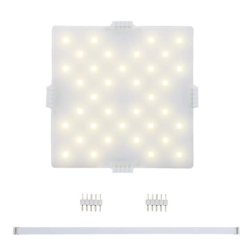 暴動グリップ珍しいLEDキッチンパネル DANCRA 拡張部品 正方形 24V 電球色 自由DIY 組み立て簡単 キャビネット照明 本棚ライト ショーケース/台所 食器棚 作業台 キャビネット照明 多目的灯