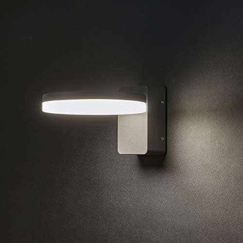 FLORNIA Aussenleuchte Außenlampe LED Wandleuchte Aussen für Balkon, Garten (4000K 800LM 12W IP65)