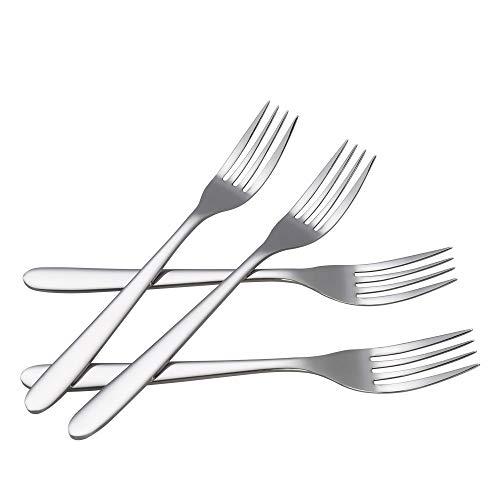 Zerdyne Set di 12 forchette da tavola, forchette da tavola in acciaio inossidabile