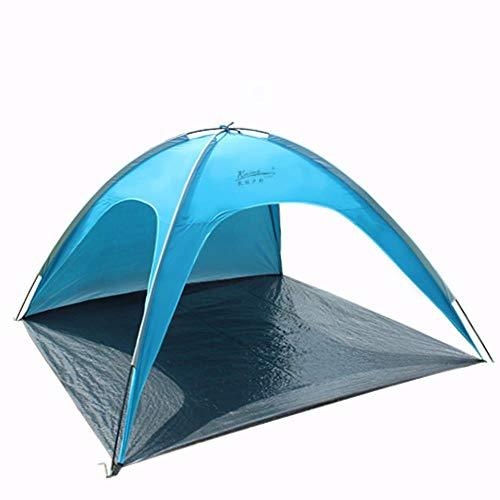 Markoo Tente de plage pliable avec sac de protection UV pour la plage, le pique-nique, la plage, la plage, l'été, bleu, CHINA