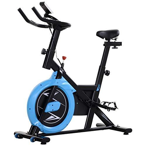 benzoni Cyclette con Trasmissione a Cinghia Fit Nero e Azzurro