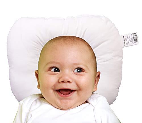 OrtoPrime Almohada Plagiocefalia Bebes - Cojín Ortopédico para Bebes Desde Recién Nacidos - Almohada Bebe Anti Cabeza Plana - Cojín Antivuelco Bebes - Almohada Ergonómica de Prevención