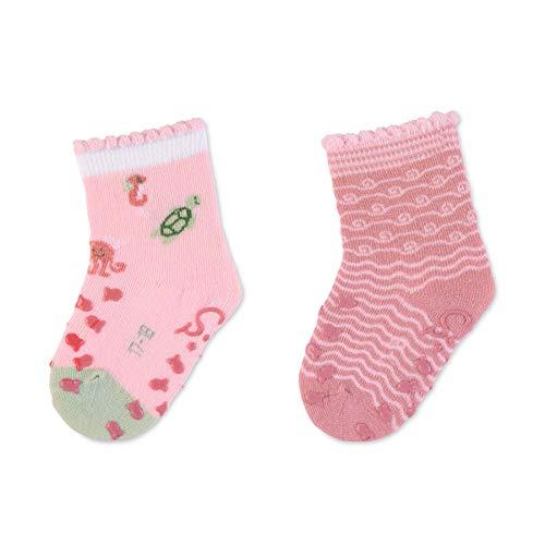Sterntaler ABS-Krabbelsöck.DP Meerestiere 8012132_702 Calcetines, rosa, 22 Baby Girls