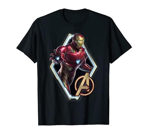 Marvel Avengers Endgame Iron Man Logo Graphic T-Shirt