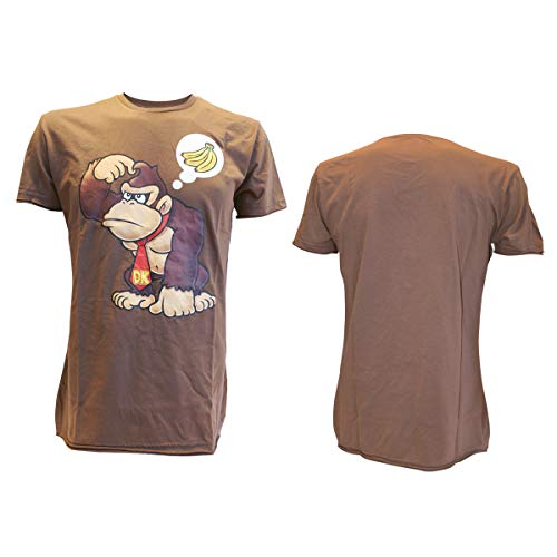 T-Shirt 'Donkey Kong wants Banana' - brun - Taille L