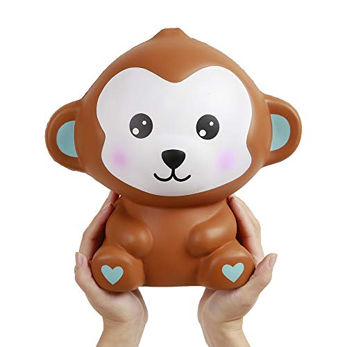 Anboor 10.2 Inches Squishies Jumbo Monkey Kawaii Slow Rising Scented Giant Animal Squishies Kids Toy