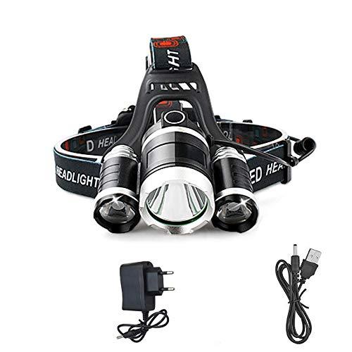 Linterna frontal LED 9000 lm 3 Xml T6 LED linterna de cabeza recargable linterna de luz linterna de camping pesca linterna