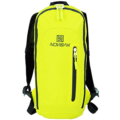 Nonbak Mochila hidratación Volcano Reflectante/hidrófuga para Running Mountain Bike 4 Colores (Yellow)