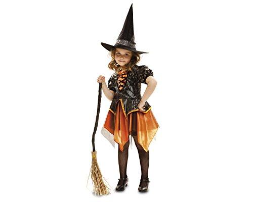 My Other Me Me-201833 personajes fántasticos Disfraz de bruja para niña, color dorado, 3-4 años (Viving Costumes 201833)