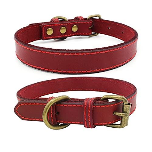 CYYLAHZX Collar De Gato De Perro con Accesorios De Bronce Antiguos Correa De Cuello De Perrito Pet 4 Tamaños 3 Colores (Color : Burgundy, Size : XS)