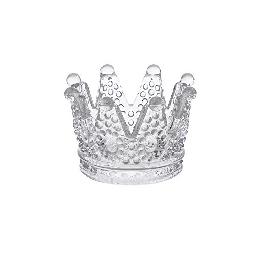 Mega Crafts 12 pcs Clear 3 Inch Diameter Crown Glassware Votive Tea Light Candle Holder, Home Décor, Wedding Bouquets & Receptions, Baby Showers, Event Planning, Table Centerpieces & Parties