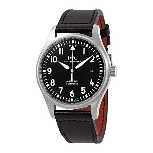 IWC Pilot's Mark XVIII automatico orologio da uomo quadrante nero IW327009