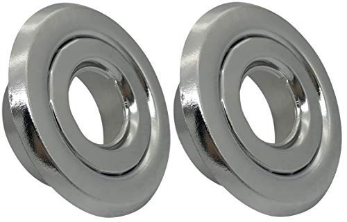 (2 Pack) 3/4' IPS fire Sprinkler Head Escutcheon Plate 2 Piece Cover Ring Chrome