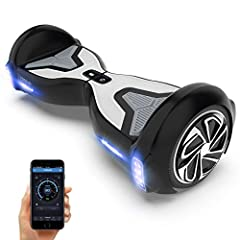 【Trusted Partner】>> The lightweight hover boards electric can load riders up to 44-265 lbs. It is equipped with 6.5 in solid rubber wheels and 500 w dual motors. Its max speed is 9.3 mph and the max range is 9.3 mi. It will become a wonderful toy and...