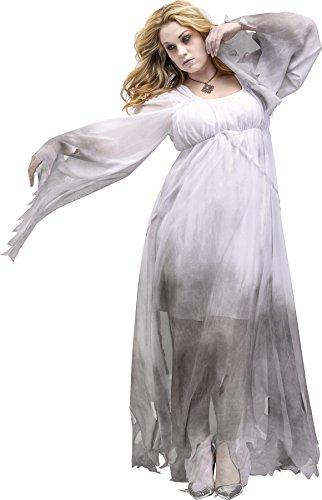 Fun World Gothic Ghost Plus Size Costume White/Gray