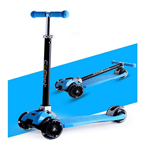 Pkfinrd Hight-Adjustable Urban Scooter, Verstelbare Hoogte Opvouwbare Straat Push Scooter voor Peuters 2-16 Jaar Oud-Maximale belasting: 80kg