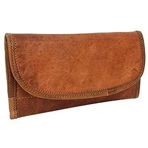 """Portafoglio Gusti – Portafoglio in vera pelle""""Emma"""" portafoglio portamonete portacarte da donna in stile vintage in vera pelle marrone"""