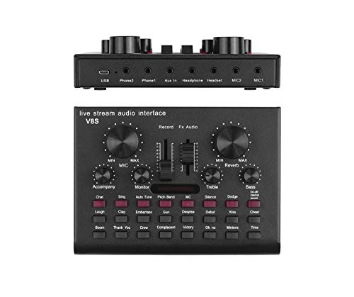 Fantastic Deal! KOKITEA V8S Live Sound Card, Voice Changer Device for PS4/Xbox/Phone/iPad/Computer, ...